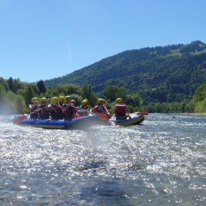 Kanu-Rafting Halbtagstour auf der Iller