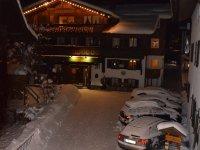 Vorderansicht Haus Winter Nacht