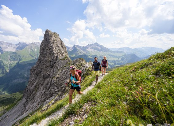 Bergtour in der Gruppe