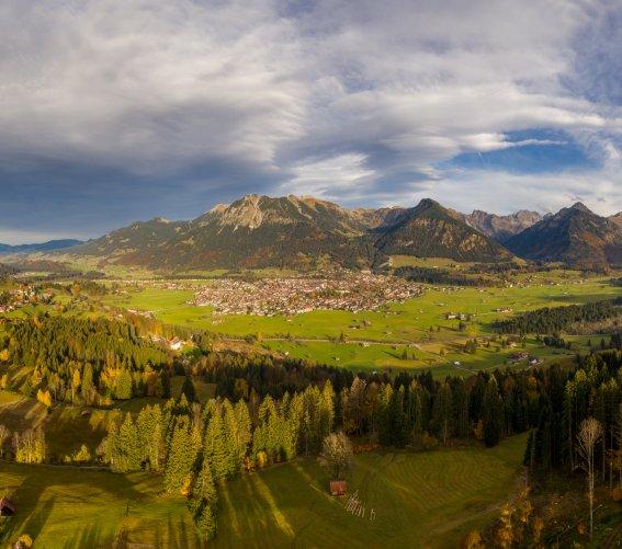 Herbstpanorama von Oberstdorf