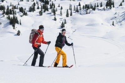 Mit den Schneeschuhen unterwegs