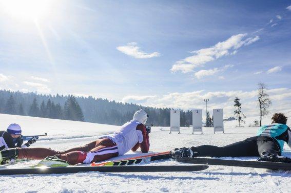 Gemeinsam beim Biathlon-Sport