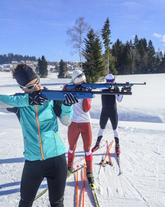 Gemeinsam beim Laser-Biathlon