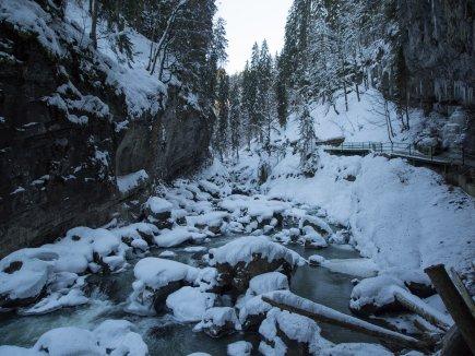 Die Breitach im Winter