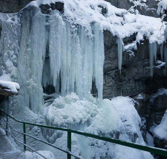 Winterliche Breitachklamm