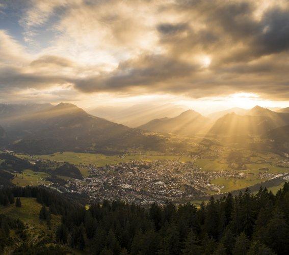Sonnenuntergang über Oberstdorf