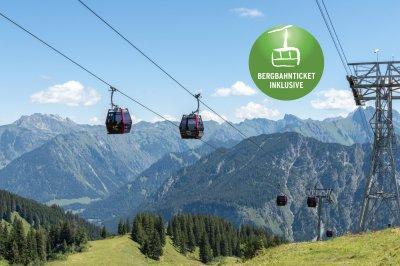 Bergbahn inkluisve Angebot mit Logo