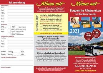 Flyer Bequem ins Allgäu reisen