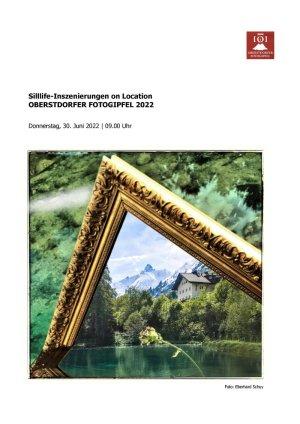 Oberstdorfer Fotogipfel - Infoblatt Stilllife-Inszenierungen on Location