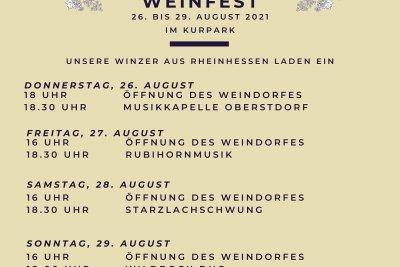 Programm Weinfest 2021