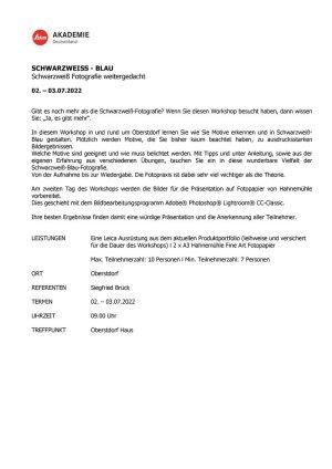 Infoblatt SCHWARZWEIß-BLAU