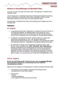 Hinweis zu Veranstaltungen im Oberstdorf Haus 3G und 3GPlus