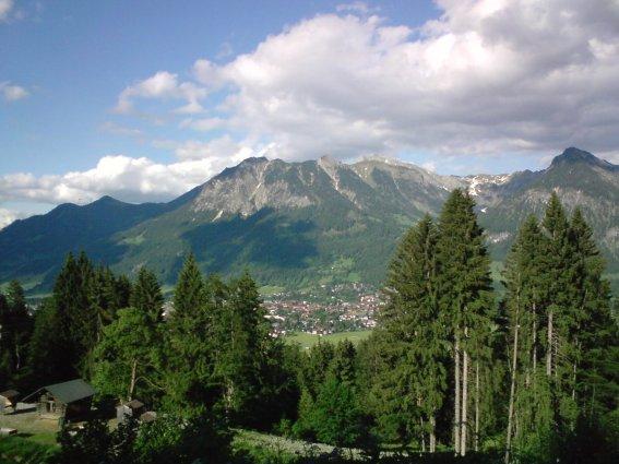 Blick nach Oberstdorf
