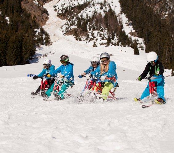 Spaß auf dem Snowbike