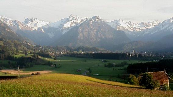 Oberstdorf im Abendlicht