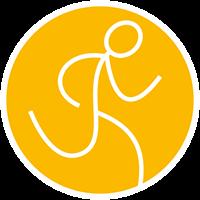 Trail-running-gelb