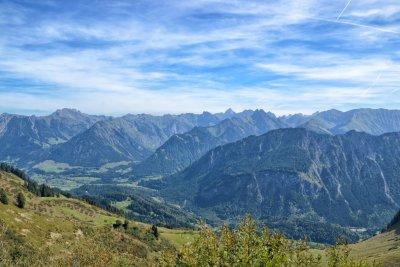 Ausblick vom Fellhorngrat