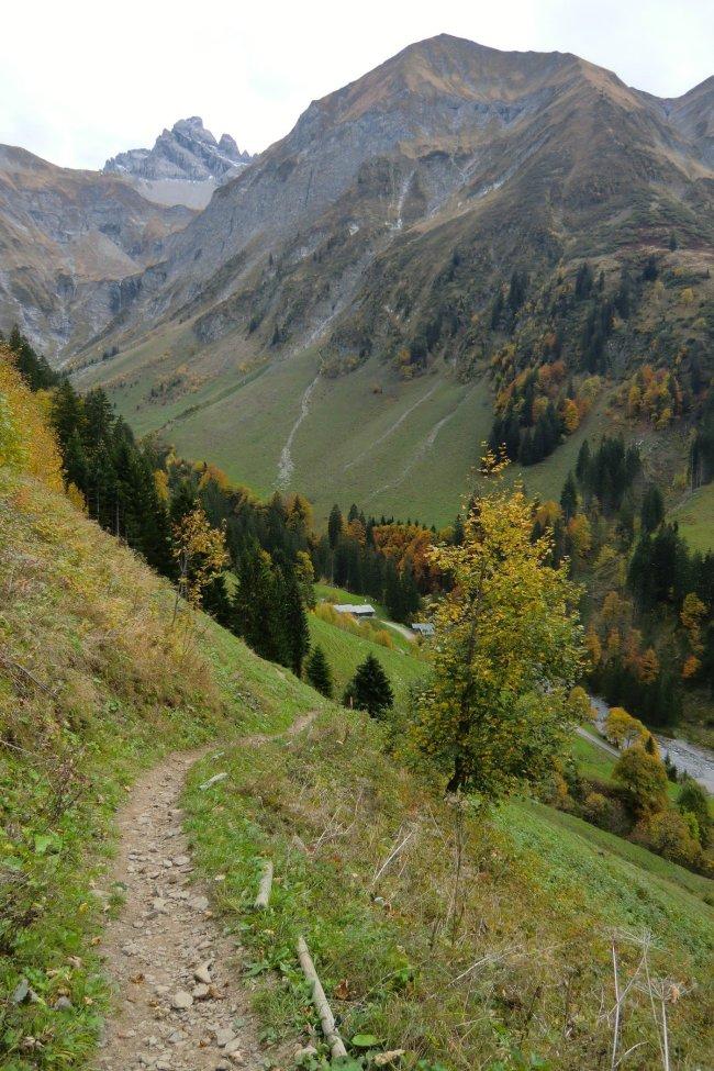 Blick zur Traufberg Alpe