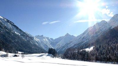 Trettachtal im Winter