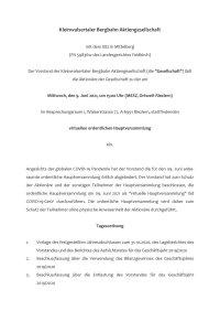 Einladung Hauptversammlung KBB Juni 2021