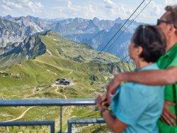 Blick auf das Wandergebiet am Nebelhorn