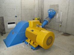 Generator mit abgedecktem Schaufelrad