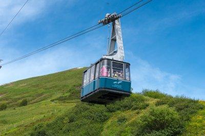 Mit der Fellhorn Gipfelbahn gehts nach oben