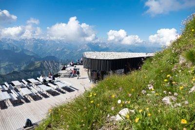 An der Nebelhorngipfelstation