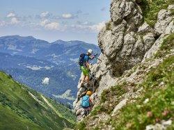 Klettern mit toller Aussicht
