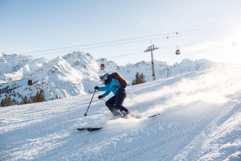 Skifahren mit der Sonne