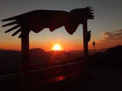 Adler7 Fotopoint bei Sonnenuntergang