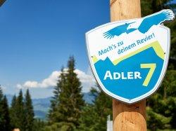 Adler7 Logo über Oberstdorf