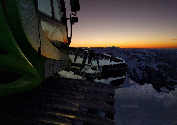 Öko-Pistenraupe Skigebiet