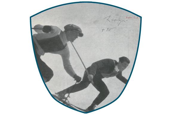 Adler 7 Ifen - Skifahrer 1936