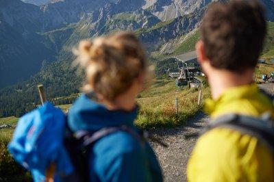 Blick auf die Gipfelbahn