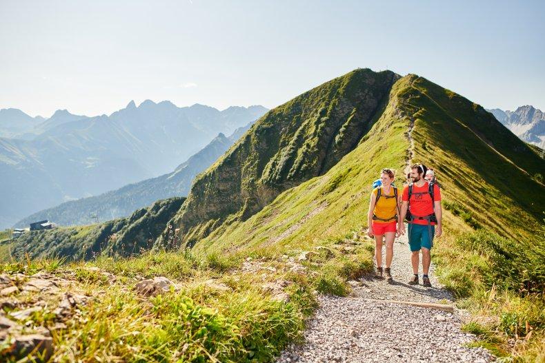 Tolle Aussicht am Fellhorn Grat