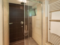 Badezimmer mit Regenwald-Dusche