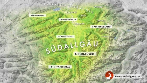 Karte Suedallgaeu