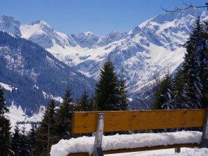 Blick ins verschneite Wildental