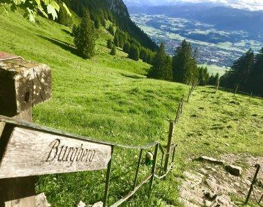 Grünten Wegweiser nach Burgberg