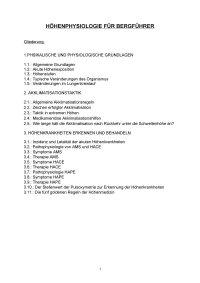 Skript Höhenmedizin fuer Bergfuehrer