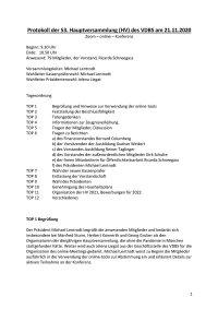Protokoll HV 2020